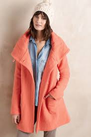 moth boiled wool sweater coat in pink lyst