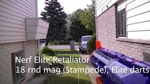 nerf n strike elite rage and retaliator firing range comparison