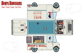 100 Trucks Paper Bobs Burgers Food Truck Toy By Thisisantondeviantartcom On