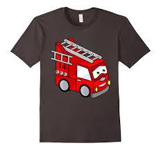 Fire Fighter Truck Kids Shirt Toddler Boys FireTruck Tee-TJ – Theteejob