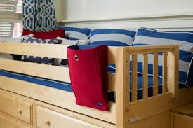a low loft bed with stairs and desk that delivers maxtrix