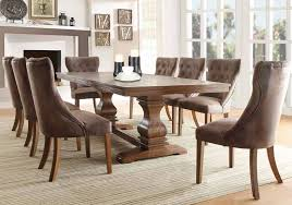 Marie Louise Rustic Dining Set With Weathered Oak Finished Extension