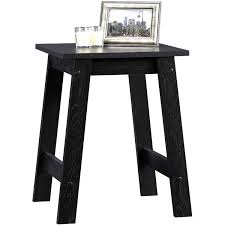 Walmart Glass Dining Room Table by Sauder Beginnings Collection Side Table Black Walmart Com