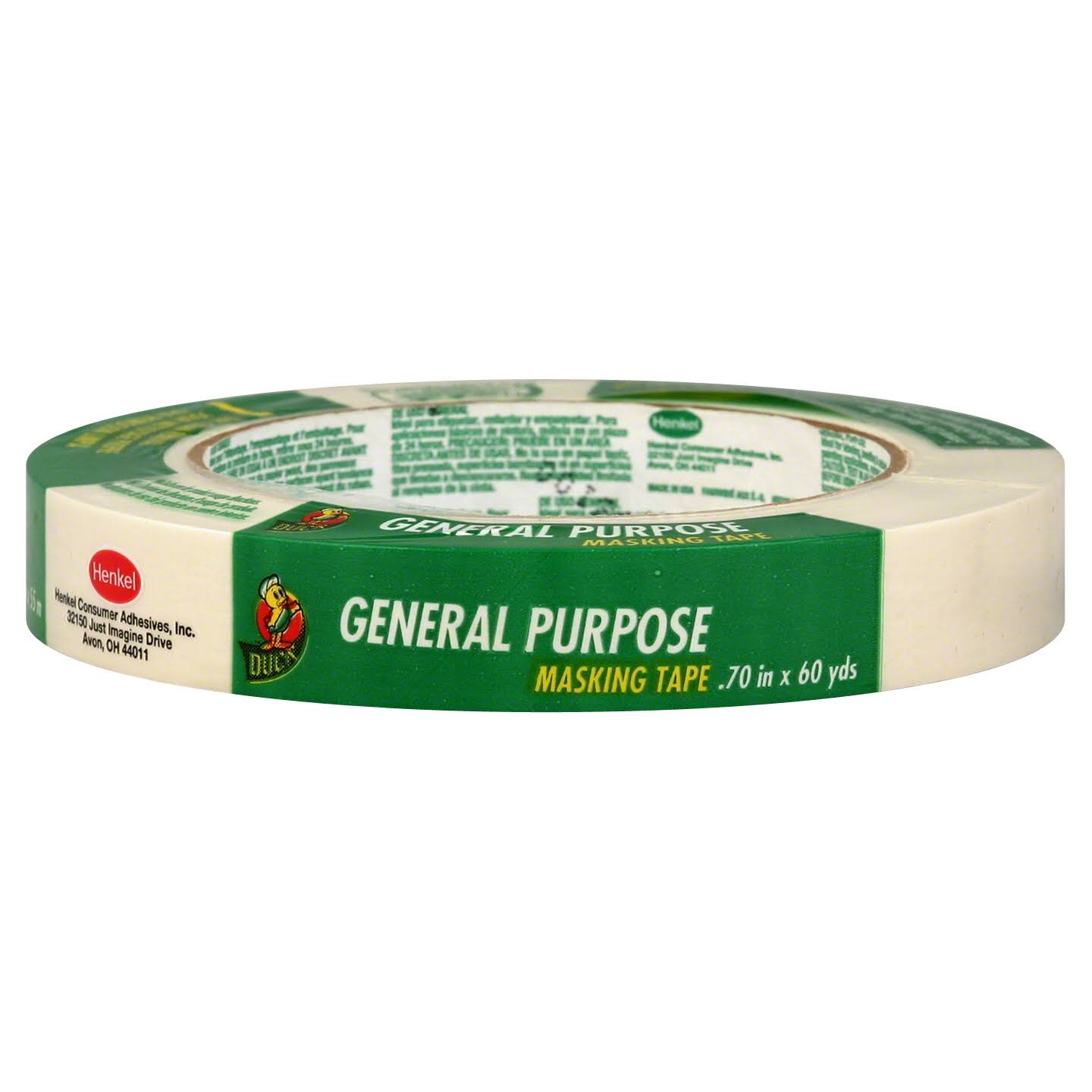 Duck General Purpose Masking Tape - 18mm x 54.86m