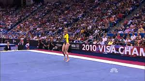 Dominique Moceanu Floor Routine by Mattie Larson Floor Exercise 2010 Visa Championships Women