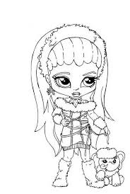 Abbey Bominable Little Girl Monster High Coloring Page