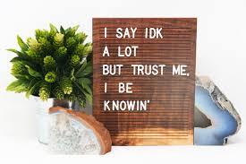 Wooden Letter Board 9x12 Tigerwood Letterboard Message Board