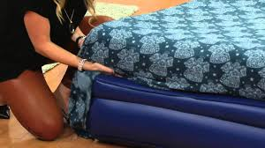 Serta Air Mattress With Headboard by Aerobed Elevated Headboard Bed With Built In Pump On Qvc Youtube