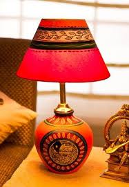 Ethnic Terracota Table Lamp Home Decor Online Shopping India Interior Decoration Furniture