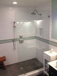 beveled subway tile shower sickchickchic