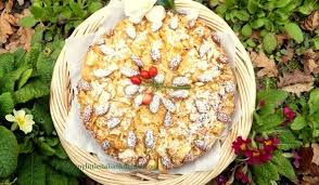 Rustic Apple Cake With Coconut And Almonds