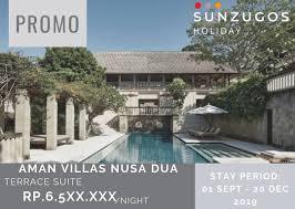 100 Aman Villas Sunzugos_holiday Luxury Voucher Hotel Bali PROMO