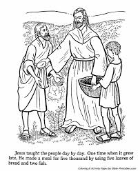 Jesus Teaches Coloring Pages 13