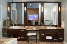 Master Bathroom Vanity With Makeup Area by Furniture New Master Bathroom Ideas Modern White Floating