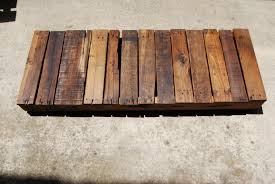 unique reclaimed coffee table plans