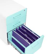 Hon Filing Cabinet Key Lost by Amazon Com Poppin White Aqua Stow Rolling 3 Drawer File