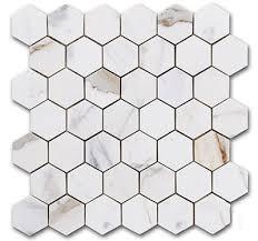 16 95sf calacatta hexagon 2 italian marble honed mosaic tile