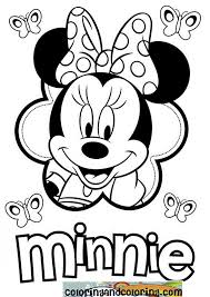 Minnie Mouse Printable Coloringcan Make This Using A 6 Petal Flower And Cutter Sheet