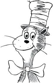Full Image For Dr Seuss Coloring Pages Pdf Page Hat