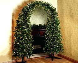 Wall Christmas Tree Pre Lit Arch Artificial Half
