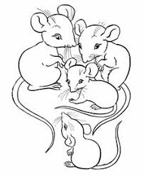 Farm Animal Coloring Page Free Printable Family Of Mice Pages Featuring Hundreds Sheets