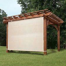 pergola roll up outdoor porch shades patio blinds deck sun screen