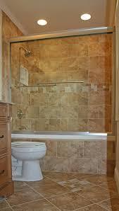 Beige Bathroom Tile Ideas by Beige Bathroom Tiles Wall Design Idea Feat Glass Shower Enclosure