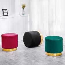 nordic kreative hocker wohnzimmer sofa hocker moderne stoff dressing hocker kinder kinder stuhl schuhe runde eisen bank