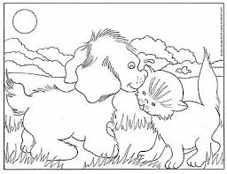 Coloring Pages Dogs And Cats 17 Dog Cat Printable
