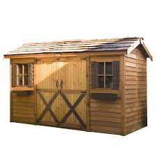 Cheap 6 X 8 Wooden Sheds by Shop Cedarshed Common 16 Ft X 8 Ft Interior Dimensions 15 5 Ft