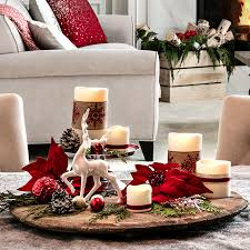 Dining Table Centerpiece Ideas For Christmas by Open Plan Living Space Holiday Decor Ideas