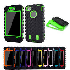Coque For iPhone 4s case Tire Dual Layer Silicone Hard Plastic