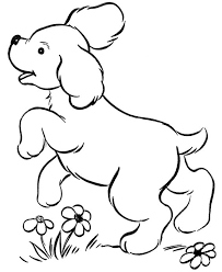 Dog Coloring Pages Free Printable And Cute Puppies On