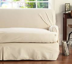 Separate Seat T Arm Cushion Loose Fit Slipcover Twill