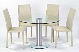 Cheap Kitchen Table Sets Uk by Chair Clear Round Glass Top Modern Dining Table Woptional Chairs
