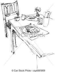 dejeuner bureau table petit déjeuner chaise bureau vecteurs eps rechercher