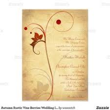 Shop Autumn Rustic Vine Berries Wedding Invitation Created By Wasootch