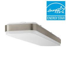 4 Ft X 1 Brushed Nickel LED Linear Ceiling Flushmount