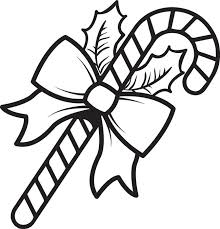 Christmas Big Candy Cane Coloring Pages Free
