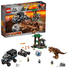 LEGO 75929 Jurassic World Carnotaurus Gyrosphere Escape, Toy ... Lego City Race Car Transporter Truck Itructions Lego Semi Building Youtube Tow Jet Custom Vj59 Advancedmasgebysara With Trailer Instruction 6 Steps With Pictures Moc What To Build Legos Semitrailer Technic And Model Team Eurobricks And Best Resource