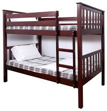 15 allentown twin over twin bunk bed espresso bus twin over