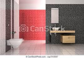 badezimmer modern fliesenmuster schwarz weiß rot canstock