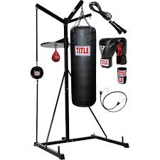 Heavy Bag Ceiling Mount Track by Title 4 Score Punching Bag Stand With Bags Title Boxing