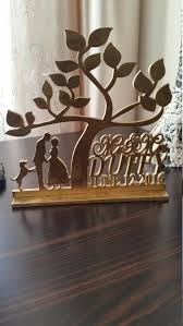 Rustic Wedding Cake Topper Personalized Silhouette Custom Monogram Tree Of Life
