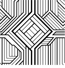 Free Printable Geometric Coloring Cool Pages For Adults