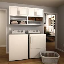 modifi madison 60 in w white open shelves laundry cabinet kit