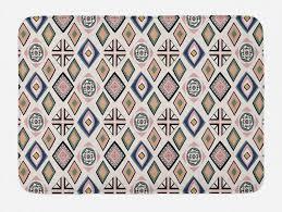 badematte plüsch badezimmer dekor matte mit rutschfester rückseite abakuhaus boho hippie geometrische formen dots kaufen otto