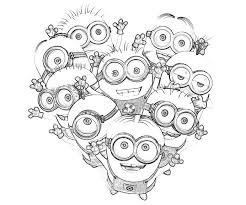 Cartoon Coloring Kids Minions Despicable Me Pages PagesFull Size Image