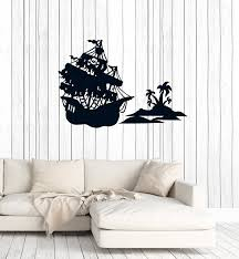 sticker cut vinyl wall ship sail style 2 boat pirate