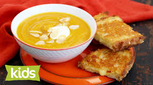 Pumpkin Soup Recipe Jamie Oliver by Easy Pumpkin Soup Recipe With Pan Cheese Toasties Youtube